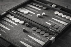 Rouleau supérieur de backgammon Photographie stock