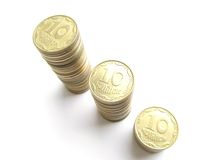 Rouleaues coins Stock Photography
