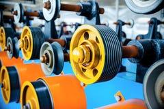 Rouleaux caoutchoutés de transfert d'éolienne automatique Images stock