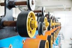 Rouleaux caoutchoutés de transfert d'éolienne automatique Photo stock
