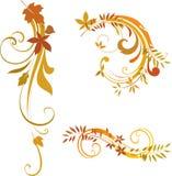 Rouleaux d'automne illustration de vecteur