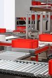 Rouleaux de bande de conveyeur Images stock
