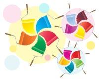Rouleaux de peinture Image stock