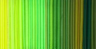 Rouleaux verts de tonalité de tissu Image libre de droits
