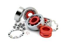 Roulement à billes avec les billes de roulement métalliques Images stock