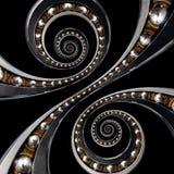 Roulement à billes industriel incroyable d'amusement Double effet en spirale technique image libre de droits