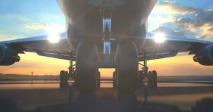 Roulement d'avion de passager au-dessus de caméra illustration libre de droits