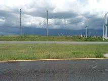 Roulement de tempête dedans photographie stock