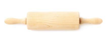 Roulement-goupille en bois d'isolement photos stock
