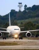 Roulement sur le sol d'avion Image stock