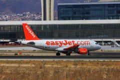 Roulement sur le sol d'Easyjet Airbus Photos libres de droits