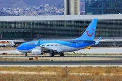 Roulement sur le sol de Jetairfly Boeing Images libres de droits
