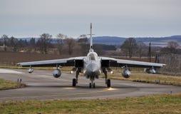 Roulement sur le sol de RAF Tornado Jet. Photo stock