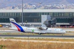 Roulement sur le sol de turbopropulseur d'Air Europa Photo stock