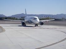 Roulement sur le sol plat à l'aéroport international de McCarran Photographie stock