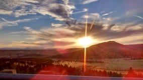 Roulement vers le bas du point de vue de Pony Butte de HWY 97 photos libres de droits