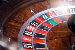 Roulett i kasino arkivfoto