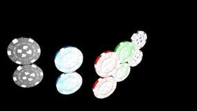 Roulett kasinolek, kungliga lekar, symbol, tecken, bästa 3D illustration, bästa animering stock video