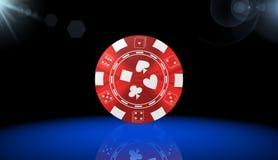 Roulett kasinolek, kungliga lekar, symbol, tecken, bästa illustration 3D Royaltyfria Foton