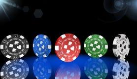 Roulett kasinolek, kungliga lekar, symbol, tecken, bästa illustration 3D Royaltyfri Bild