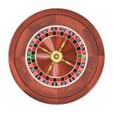 Roulette über Weiß Lizenzfreies Stockfoto