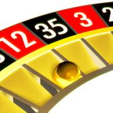 Roulette 04 dicht met bal Royalty-vrije Stock Foto's