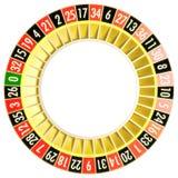 Roulette 06 ohne Kugel Stockbild