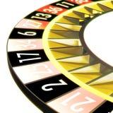 Roulette 07 sans bille et W Image stock