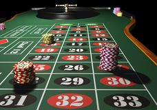 Roulette. Casino roulette - 3d max render vector illustration