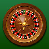 Roulette. Casino roulette on green background