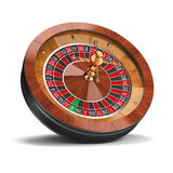 Roulette. Wheel. 3d image. White background royalty free illustration