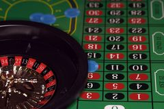 Roulette. Gaming setup Royalty Free Stock Photography