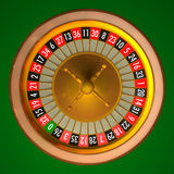 Roulette. 3D illustration of roulette with photo realistic rendering without ball. Clipping path included for easily isolate background, numbers or wheel vector illustration