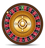 Roulette. Casino roulette interior game illustration vector illustration