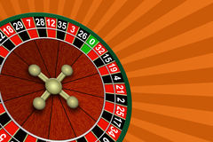 Roulette on an abstract background Stock Image