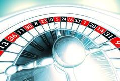 Roulette argentée Image stock