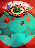 Roulette background Royalty Free Stock Photos