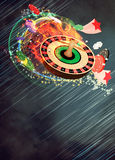 Roulette background. Casino roulette invitation poster, flyer and other advert background with empty space Royalty Free Stock Photos