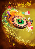 Roulette background. Casino roulette invitation poster, flyer and other advert background with empty space Royalty Free Stock Photo