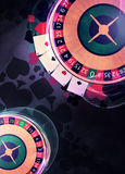 Roulette background. Casino roulette invitation poster, flyer and other advert background with empty space Royalty Free Stock Photography