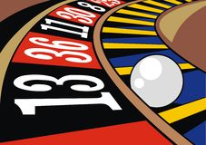 Roulette background. Detail of color roulette as nice gamble background royalty free illustration
