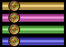 Roulette banner set Stock Images