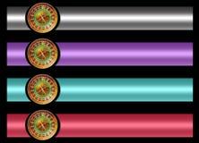 Roulette banner set Stock Image