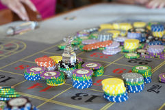 Roulette bet Stock Image