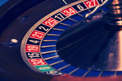 Roulette in blue Stock Photo