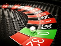 Roulette Carbon Fiber 3D Illustration Royalty Free Stock Images