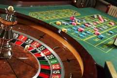 Roulette casino. In the room royalty free stock images