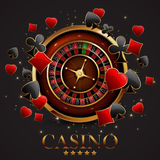 Roulette in the casino. Casino advertising design with a tape measure on a gray background Royalty Free Stock Images