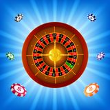 Roulette casino background stock illustration