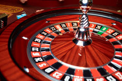 Roulette in the casino. The ball on the figure 18 Royalty Free Stock Image